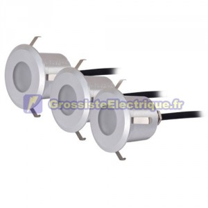 3 septembre ronde 6 LED 0,6 W - IP54 - Matt Nickel, 40x57mm.