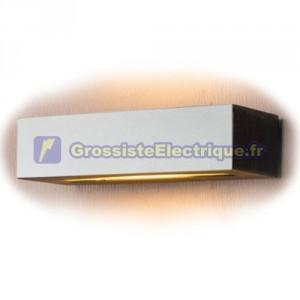 Appliquer double paroi rectangulaire de sortie 20W E27 (60W) - IP44 pour usage externe. Diffuseur en verre satiné. 289x115x70m