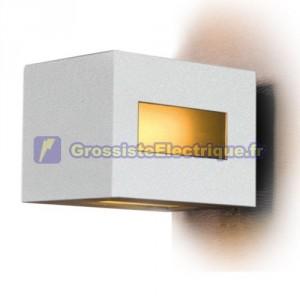 Appliquer paroi rectangulaire de sortie multiples, 20W E27 (60W) - IP44 pour usage externe. Diffuseur en verre satiné. 150x220