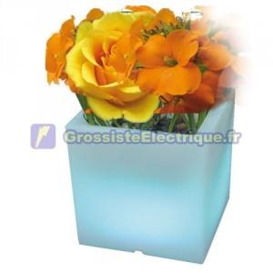 Multicolore carré planteur 48 LED - RGB à distance IP44.con.