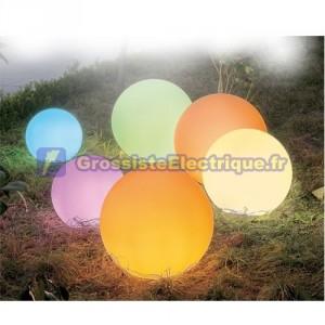 Boule blanche décorative jeu au sol intérieur et extérieur inclus pour