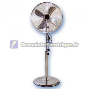 Ventilateur sur pied oscillant 60W métal