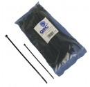 Bride 25unidades sac de couleur noir, 100% nylon. 200x3, 5mm.