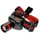 Concentrez-torche de la tête avec de l'aluminium ultrabrillant 1 LED 3W.