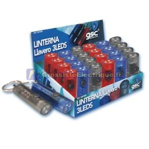 Exposant 24 unités. 3 LED Flashlight