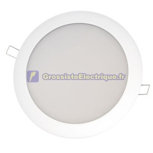 Downlight encastré LED 20W blanc ronde Lm 920