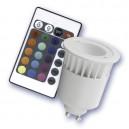 Encadré 10 GU10/RGB multicolore dichroïque ampoules 1 LED 5W céramique-plastique