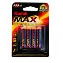 Boîte de 10 blisters de 4 unités de piles alcalines LR-03 (AAA) Kodak