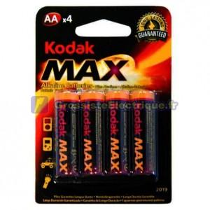 Boîte de 20 ampoules de 4 unités de piles alcalines LR-6 (AA) Kodak