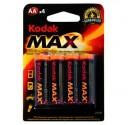 Boîte de 20 blisters de 4 unités de piles alcalines LR-6 (AA) Kodak