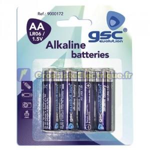 Encadré 10 blisters de 4 unités de piles alcalines LR-6 (AA) de la CGC