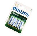 Boîte de 12 blisters de 4 unités de sel R-6 piles (AA) PHILIPS