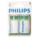 Encadré 12 2 unités de batteries sel R-20 (D) PHILIPS