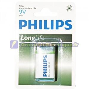 Boîte de 12 ampoules de 1 unité PHILIPS 9V piles sel
