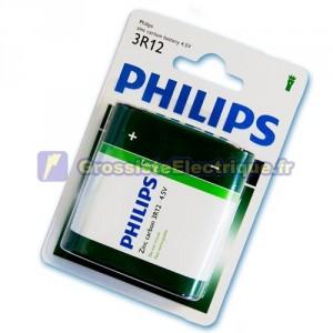 Boîte de 12 ampoules de 1 flacon piles salines unité 12 à 4,5 V PHILIPS 3R