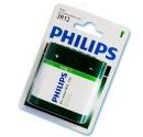 Boîte de 12 ampoules de 1 unité de piles salines de 12 à 4,5 V poche 3R PHILIPS