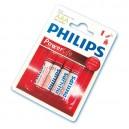 Boîte de 12 blisters de 4 unités de piles alcalines LR-03 (AAA) PHILIPS