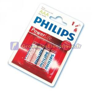 Boîte de 12 blisters de 4 unités LR-03 piles alcalines (AAA) PHILIPS