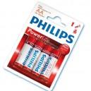 Boîte de 12 blisters de 4 unités de piles alcalines LR-6 (AA) PHILIPS