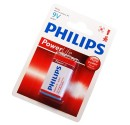 Boîte de 12 ampoules de 1 unité de Philips piles 9V alcaline