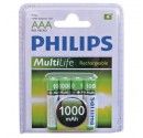 Boîte de 12 blisters de 4 unités de R-03 batteries rechargeables (AAA) 900mAh Ni-MH PHILIPS