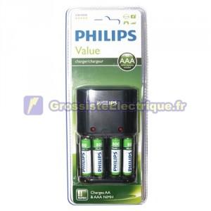 Batterie rechargeable R3 (AAA)-R6 (AA) comprend 4xAA recarg. PHILIPS
