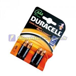 Encadré 10 blisters de 4 unités de base des piles alcalines LR-03 (AAA) DURACELL