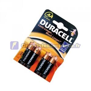 Encadré 20 ampoules de 4 unités de base des piles alcalines LR-06 (AA) Duracell