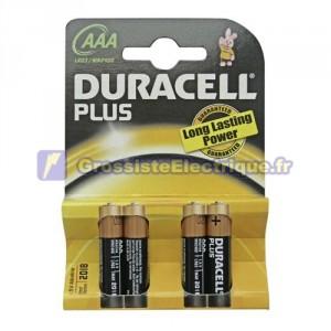 Encadré 10 blisters de 4 unités plus piles alcalines LR-03 (AAA) DURACELL