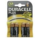 Boîte de 20 blisters de 4 unités de piles alcalines LR-06 Plus (AA) DURACELL