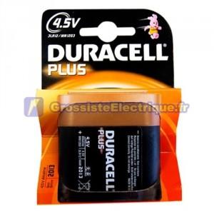 Encadré 10 blisters de 1 unité pack de piles alcalines 12 à 4,5 V DURACELL Plus 3R