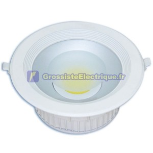 COB LED Downlight 30W 4000K ronde lm 2700 en retrait