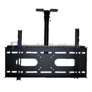 Montage au plafond réglable pour téléviseurs avec système antivol