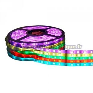 Rouleau de 5 mètres LED bande de 14,2 W / m multicolore RGB