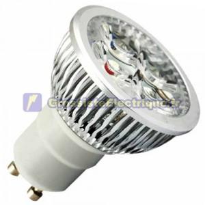 Ampoule LED GU10 6W (4x2W) 38º 310Lm 6400K