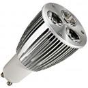 Encadré 10 ampoules dichroïques 3x3W (9W) LED ultrabrillant, GU10 230V 6400K froide