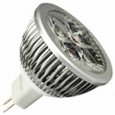 Encadré 10 ampoules LED 6W (4x2W) MR16 G5, 3 12V 6400K froid