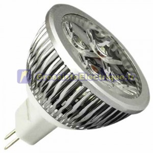 Ampoule LED 6W (4x2W) MR16 G5, 3 12V 2700K chaud