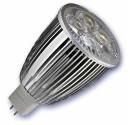 Encadré 10 ampoules LED 9W (4x3W) MR16 G5, 3 12V 2700K chaud