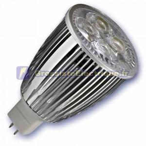 Ampoule LED 9W 4x3W () MR16 G5, 3 12V 6400K froid