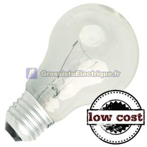 Encadré 10 incandescence standard E27 60W coût évident bas