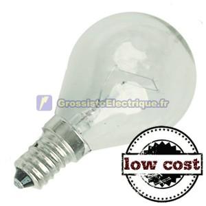 Encadré 10 incandescente claire E14 25W coût sphérique bas