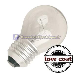 Encadré 10 incandescente claire E27 25W coût sphérique bas