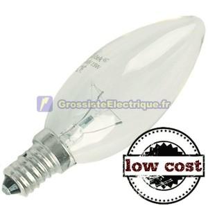 Encadré 10 incandescente 40W E14 bougie clair à faible coût