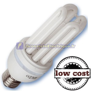Boîte de 10 Ampoules E27 28W 4U chaudes coûts T4 faible