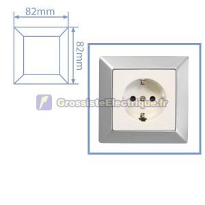 Matte Silver Frame 1 module