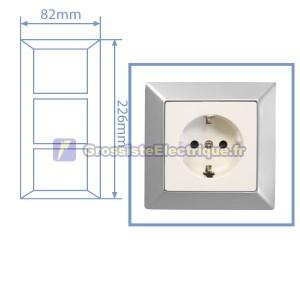Matte Silver Frame 3 modules
