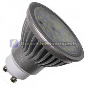 Ampoule GU10 à LED 7,4 W 120 ° lumière chaude