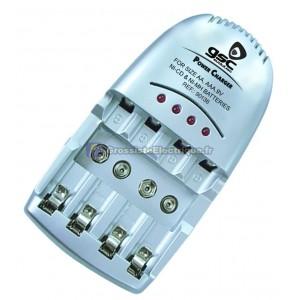 4 Chargeur de batterie / R3/AAA rechargeable, et 9V R6/AA