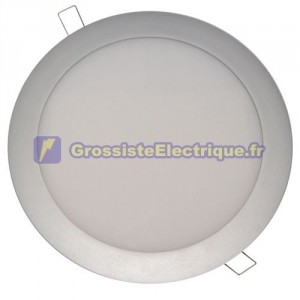 Downlight encastré LED 20W rond Nickel Satin 920 Lm